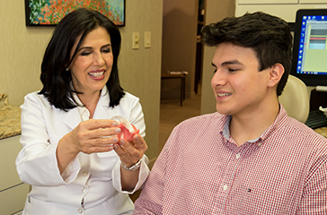 Showing Invisalign aligners